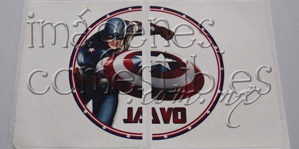 Impresión tipo póster de Capitán América