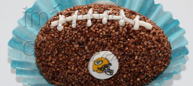 Balón de fútbol americano de amaranto con imagen comestible