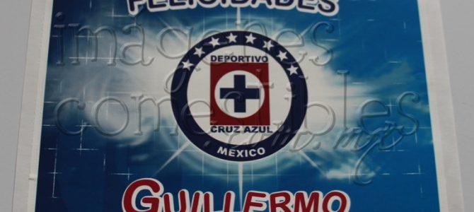 Hoja de azúcar con escudo de Cruz Azul