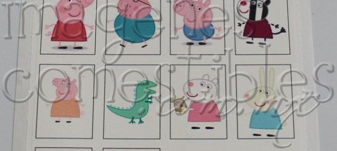 Imagen comestible de Peppa Pig