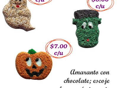 Figuras de amaranto para Halloween