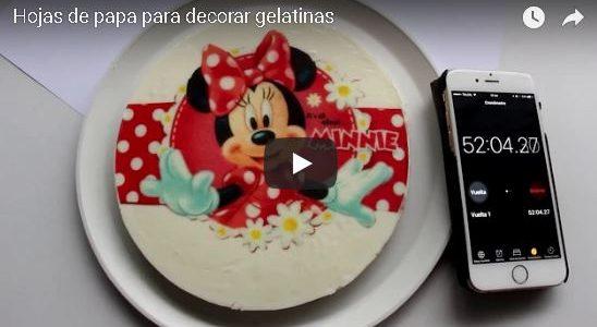 Hojas de Papa (arroz) para decoración de gelatinas